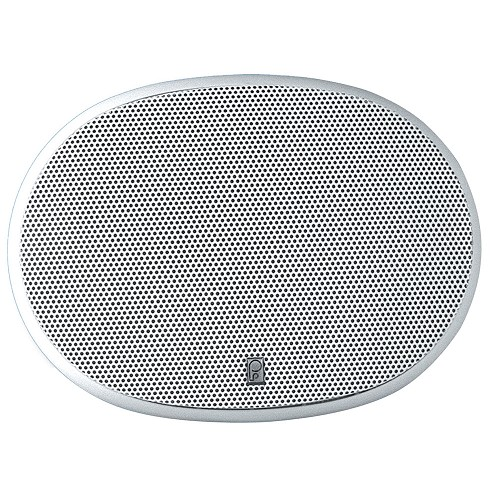 "Poly-Planar 6"" x 9"" 3-Way Platinum Oval Marine Speaker - (Pair) White"